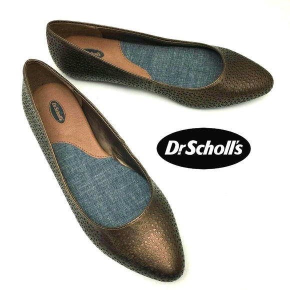 fbe63250d84d1 REALLY Slip On Point Ballet Flats Bronze Cut Out NWT